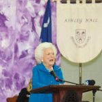 Barbara Bush speaks at Ashley Hall