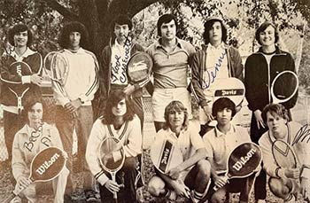 the first Wando High School tennis team yearbook picture