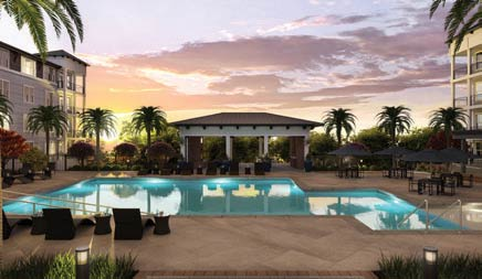 Overture Daniel Island facility pool.