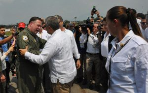 Wayne Capps meeting with the president of Colombia as we were delivering humanitarian aid to Venezuela last year.