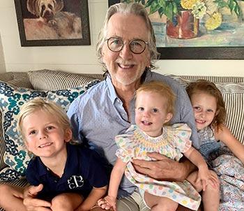 Paul Heinauer with his grandkids.